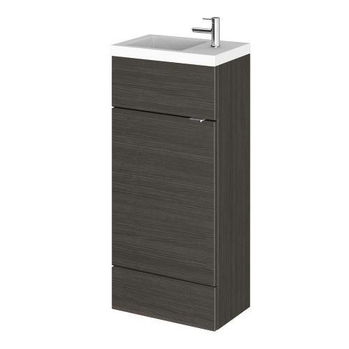 Elite Hacienda Black 400mm Compact Vanity Unit & Basin